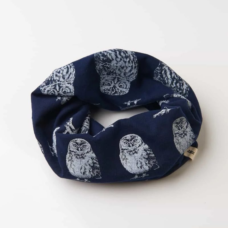 Little owl navy neckwarmer